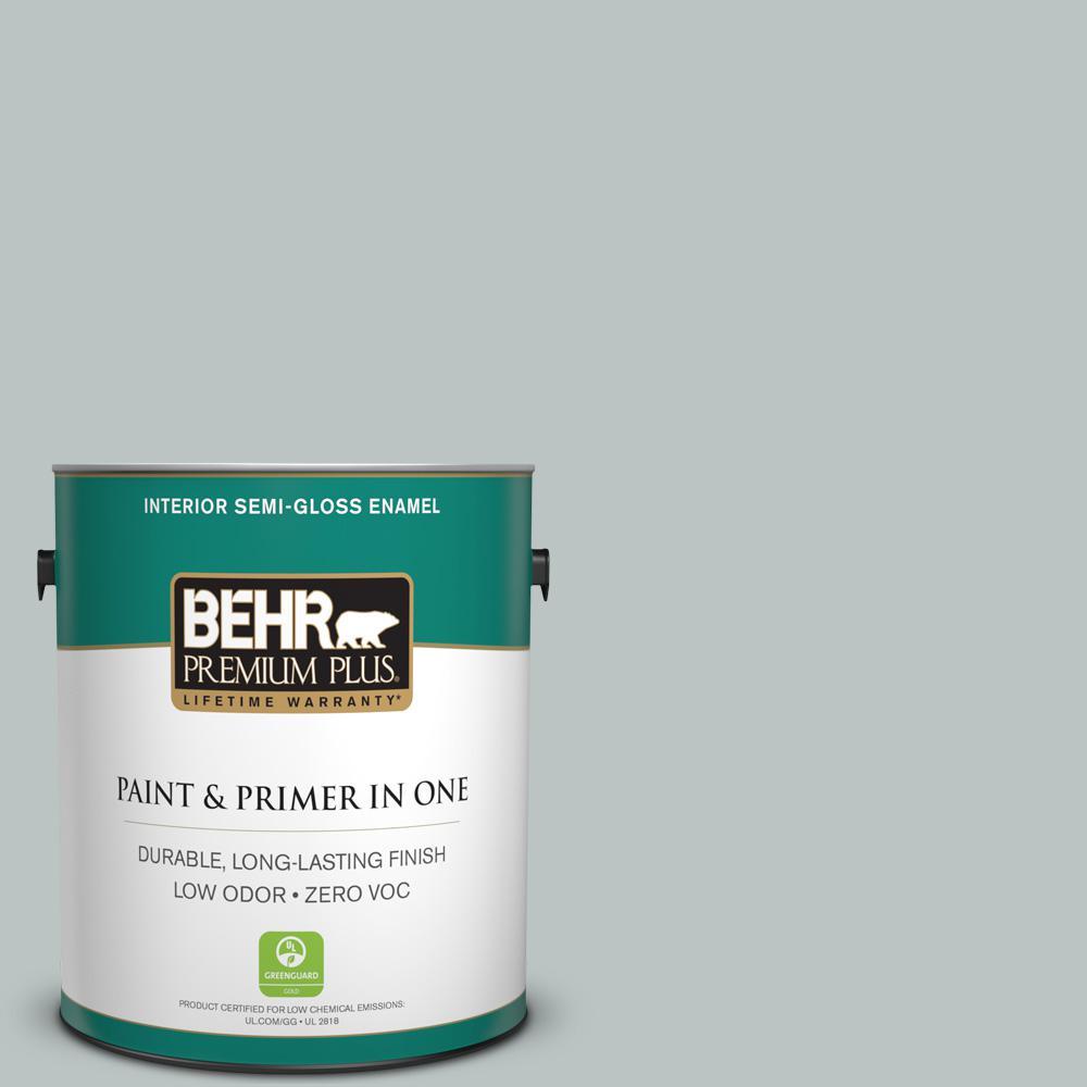 1-gal. #PPF-26 Polished Rock Zero VOC Semi-Gloss Enamel Interior Paint