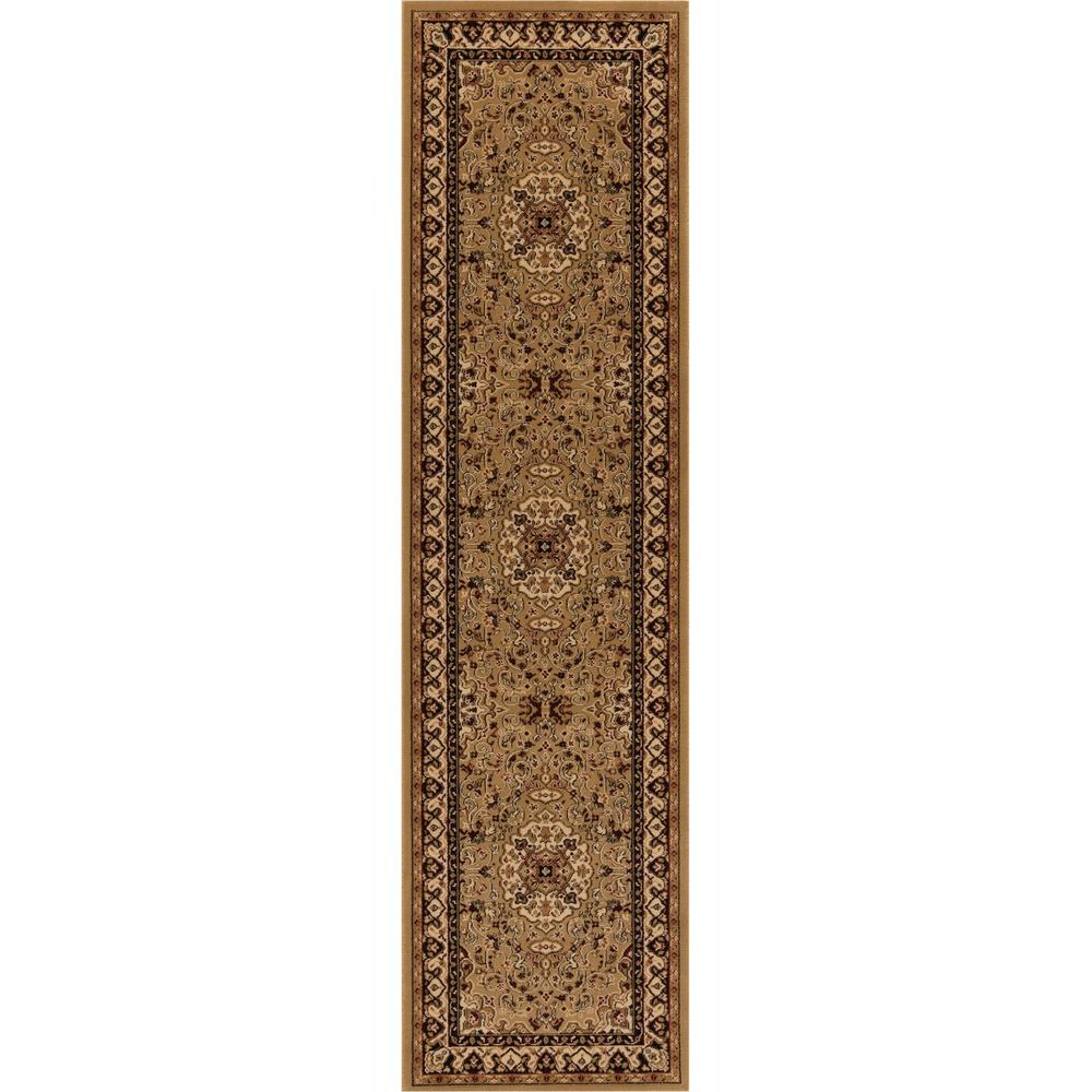 Concord Global Trading Persian Classics Isfahan Gold 2 ft. x 7 ft. 7 in. Runner