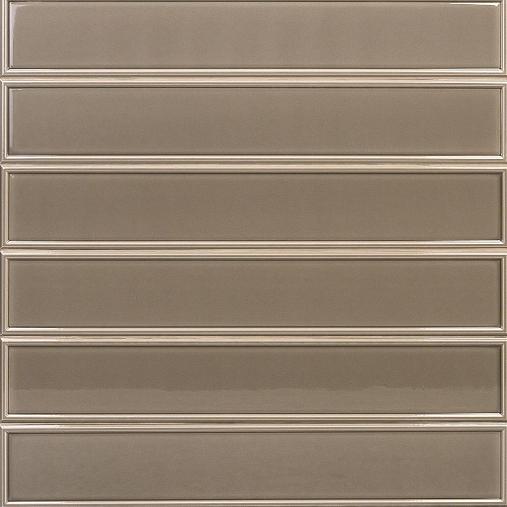 Ivy Hill Tile Cavanaugh Frame Brown 4 In X 24 In X 11mm Polished