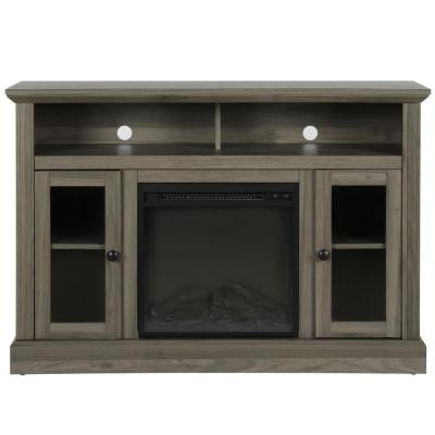 Nashville Rustic Gray 50 in. TV Stand with Electric Fireplace