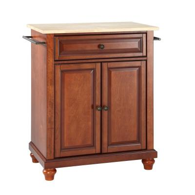 Cambridge Portable Kitchen Island with Wood Top