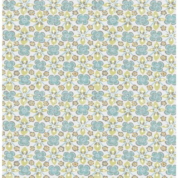 A-Street Free Spirit Turquoise Floral Wallpaper 1014-001825