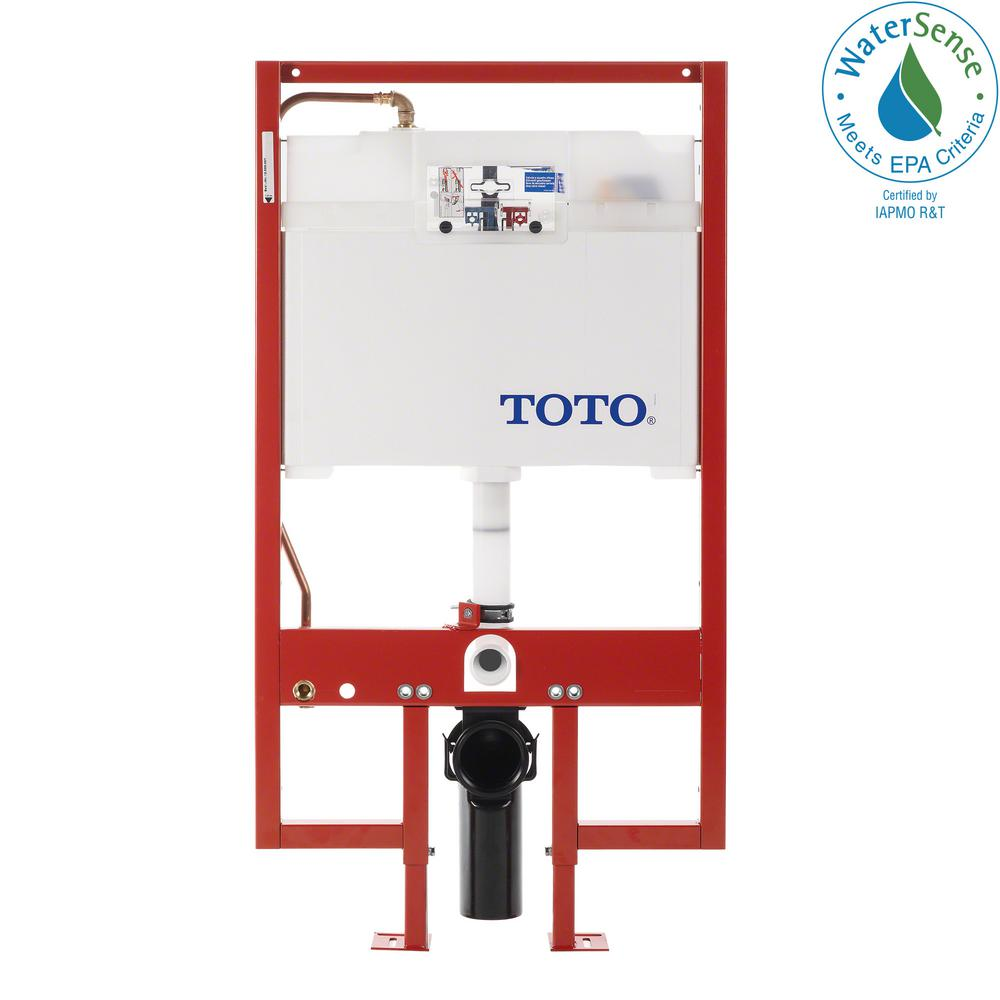 In-Wall 0.9/1.6 GPF Dual Flush Toilet Tank Only with Copper Supply