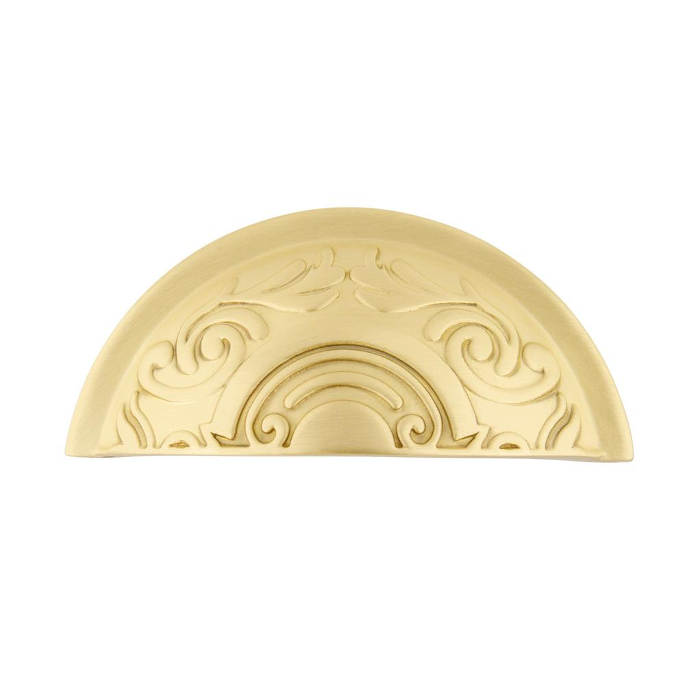 Nostalgic Warehouse 3 in. (76 mm) Satin Brass Drawer Cup Pull Victorian
