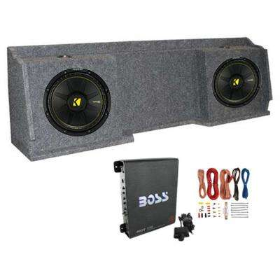12 in. Subwoofers (2 Pack) + GMC Chevy Silverado Ext Cab 99-06 Box, Amp and Wiring
