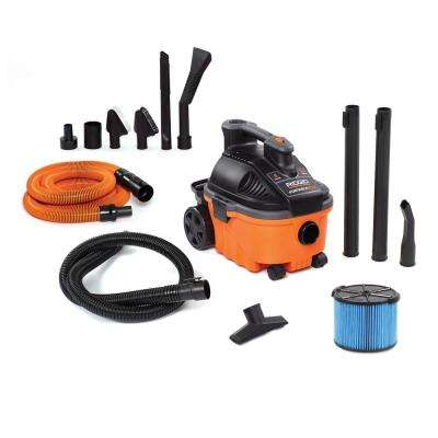 4 Gal. 5.0-Peak HP Portable Wet/Dry Shop Vacuum with Fine Dust Filter, Hose, Accessories and Premium Car Cleaning Kit
