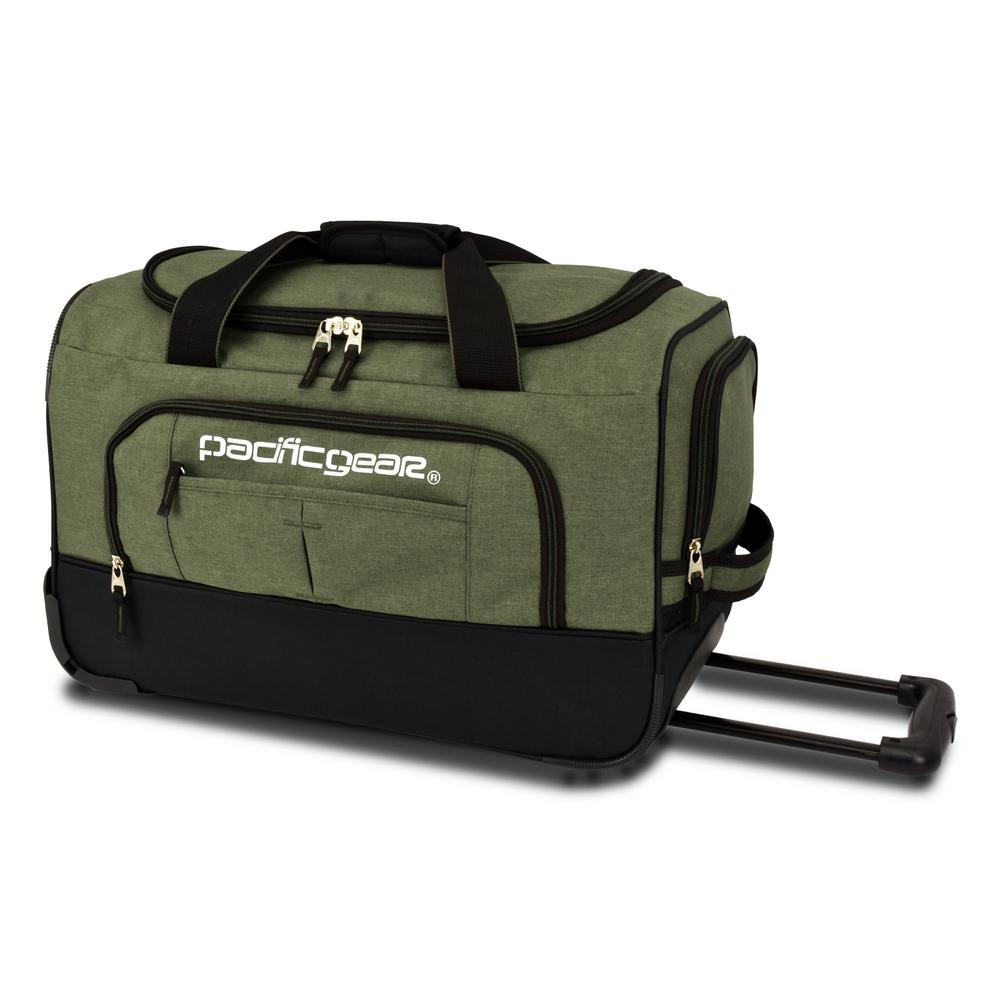 Keystone 21 in. Rolling Olive Duffel Bag