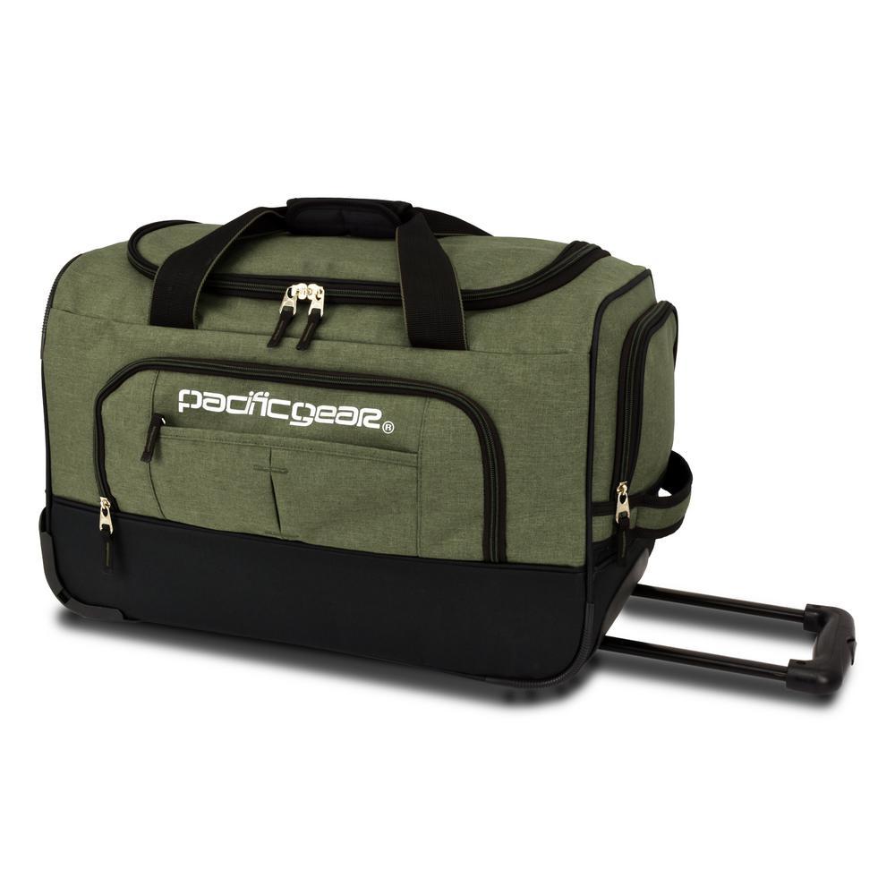 Keystone 21 in. Rolling Olive Duffel Bag