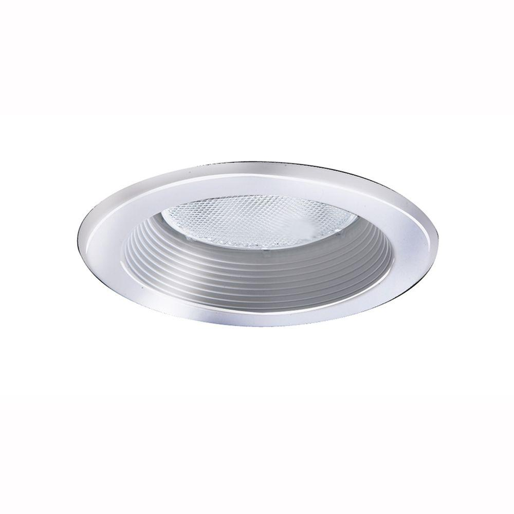 All-Pro 5 in. White Recessed Lighting Baffle Splay Trim