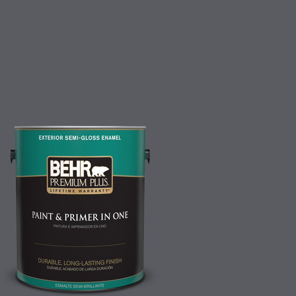 1 gal. #PPU18-02 Pencil Point Semi-Gloss Enamel Exterior Paint
