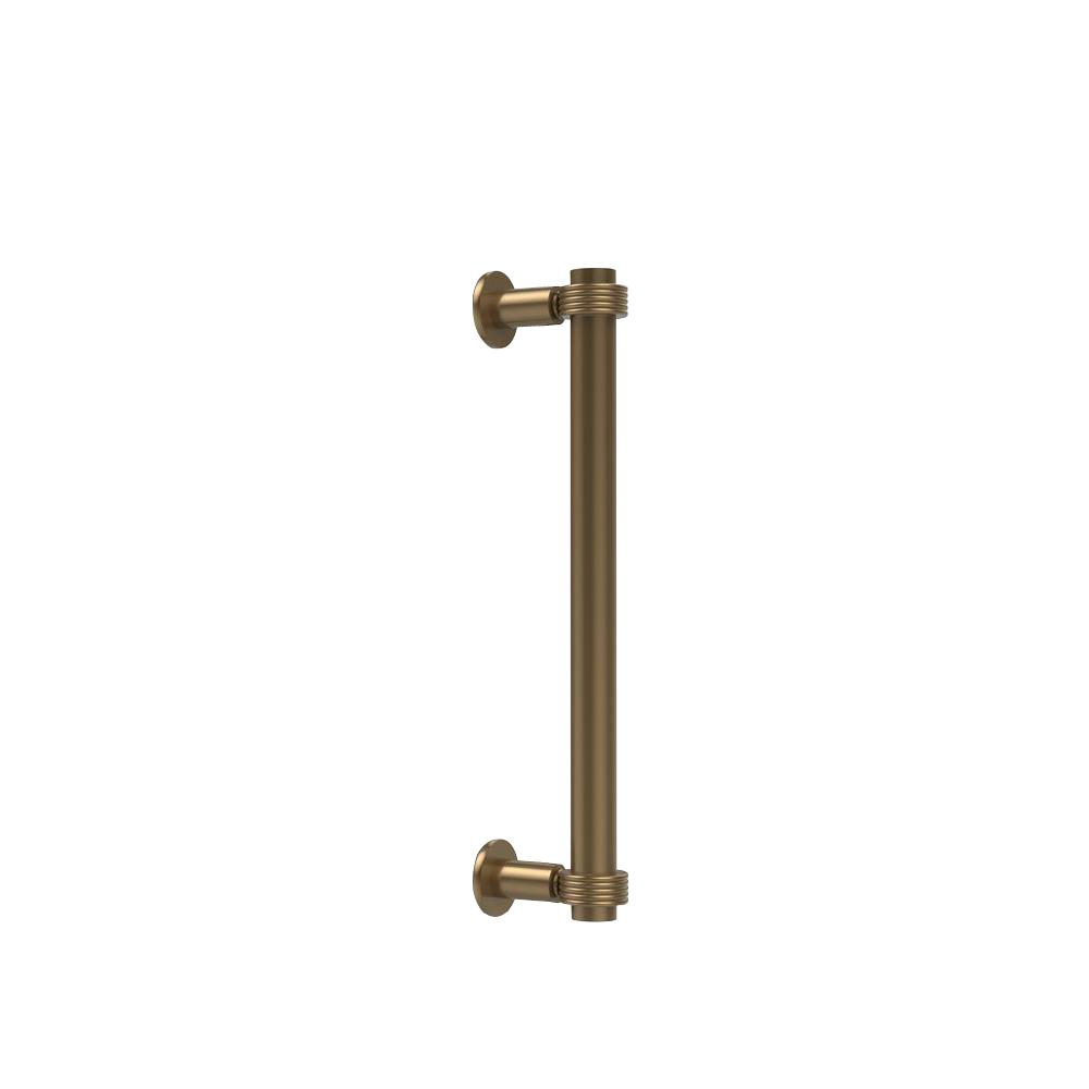 Allied Brass Contemporary 12 in. Back to Back Shower Door Pull with Grooved Accent in Brushed Bronze