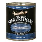 Varathane 1 qt clear semi gloss water based outdoor spar urethane 250141h the home depot for Exterior polyurethane for decks