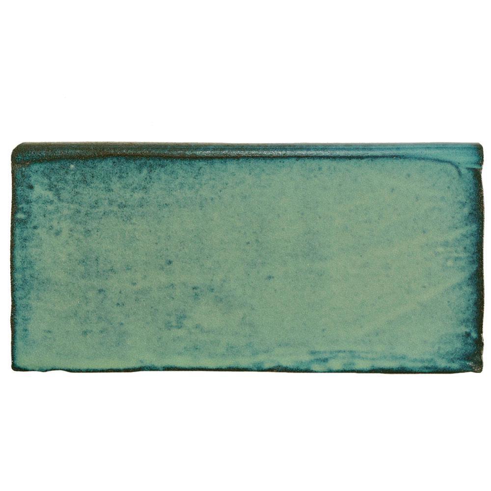 Merola Tile Antic Special Lava Verde 3 in. x 6 in. Ceramic Bullnose Wall Trim Tile