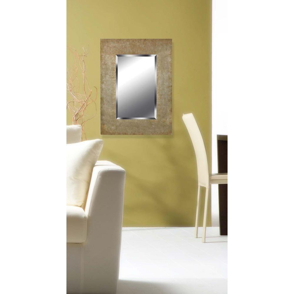 Home Decorators Collection Sheen 40 in. x 30 in. Wood Framed Mirror