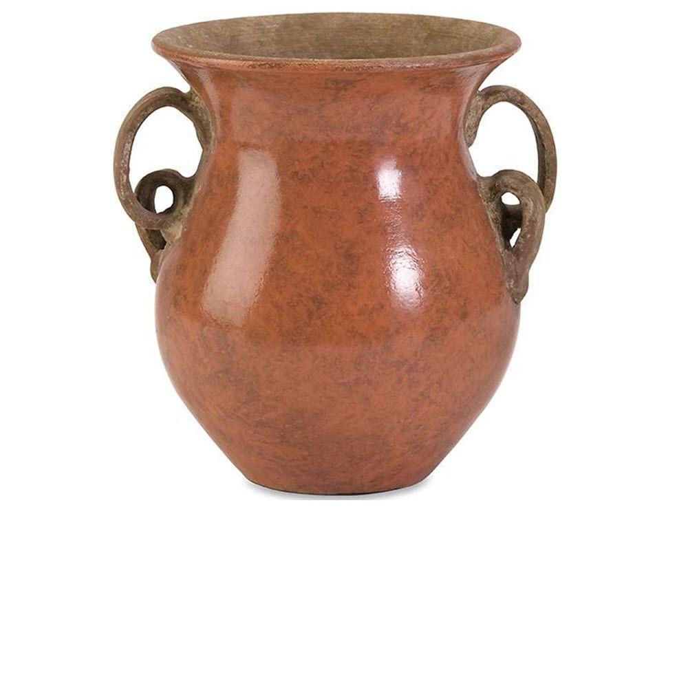 Home Decorators Collection 8.75 in. H x 9 in. Diameter Orange Pravuil Medium Handmade Vase