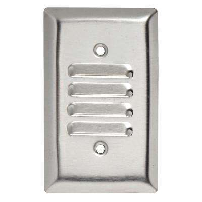 302 Series 1-Gang Louver Wall Plate in Stainless Steel