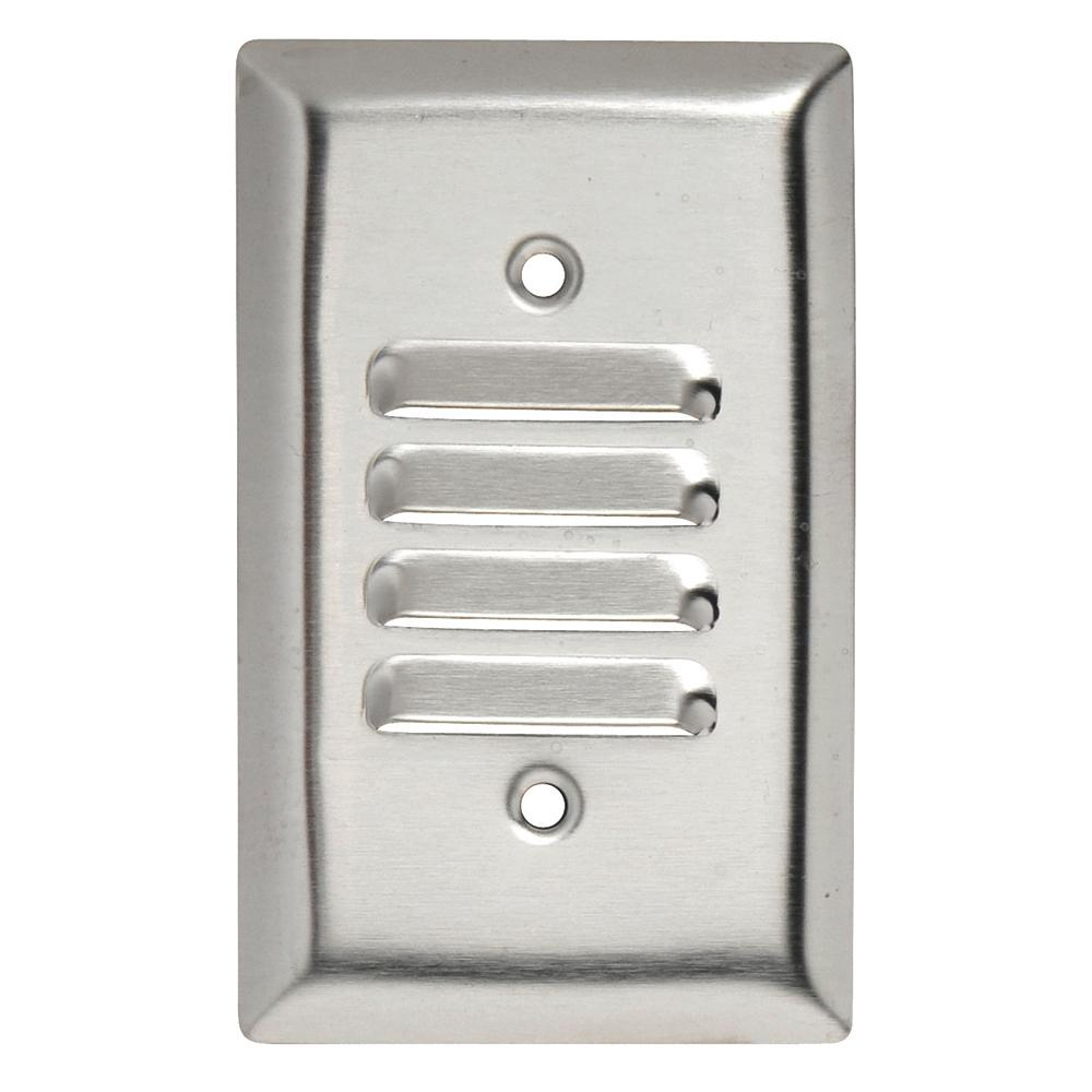 Legrand Pass & Seymour 302/304 S/S 1 Gang Vertical Louvered Wall Plate, Stainless Steel (1-Pack)