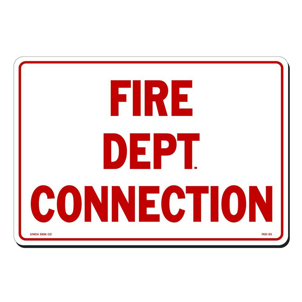 Lynch Sign 14 in. x 10 in. Fire Dept. Connection Sign Printed on ...
