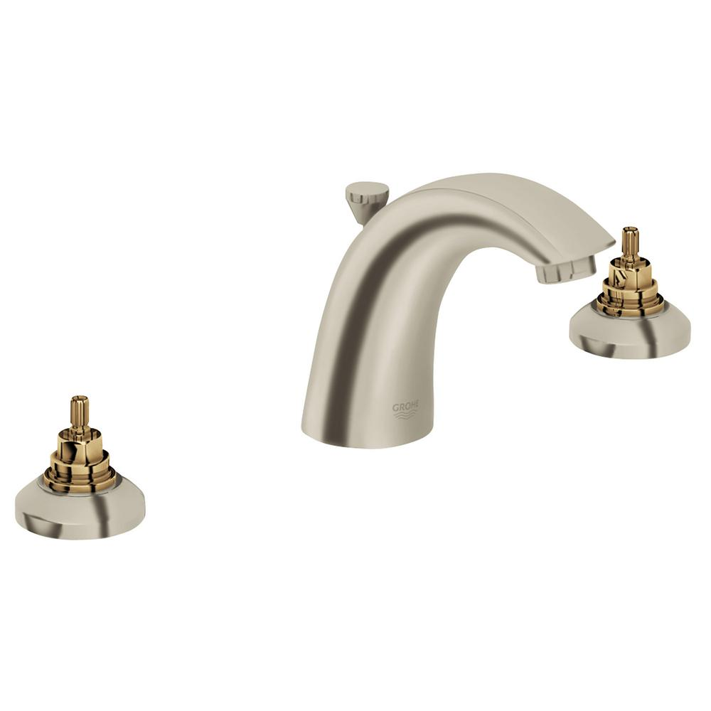 Grohe arden 8 in widespread 2 handle bathroom faucet in for Bathroom faucet finishes