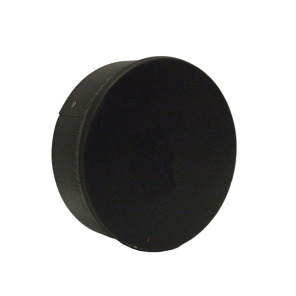 6 in. x 6 in. Black Stove Pipe Duct Cap
