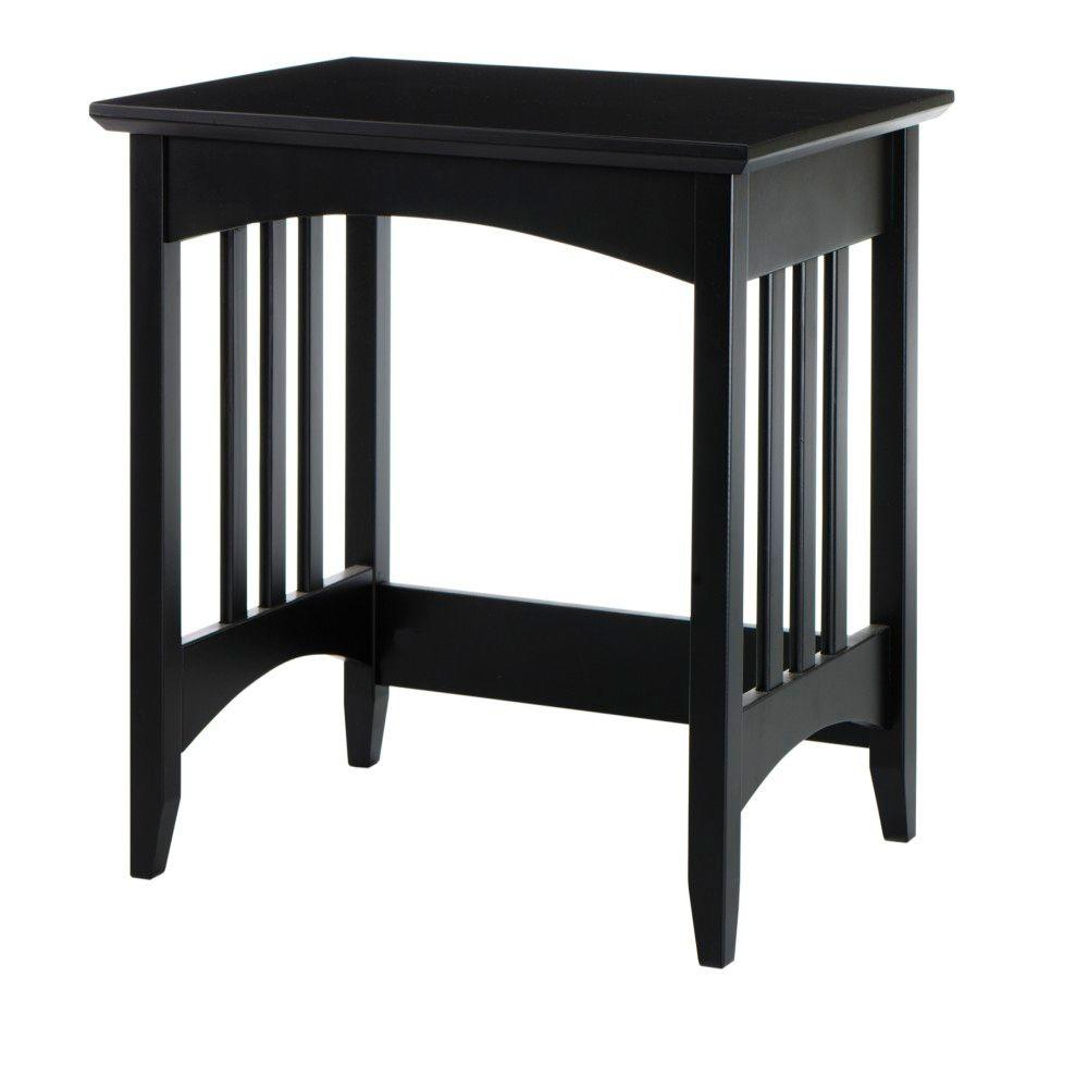 Home Decorators Collection Hawthorne 21 in. W Black Slatted Bench