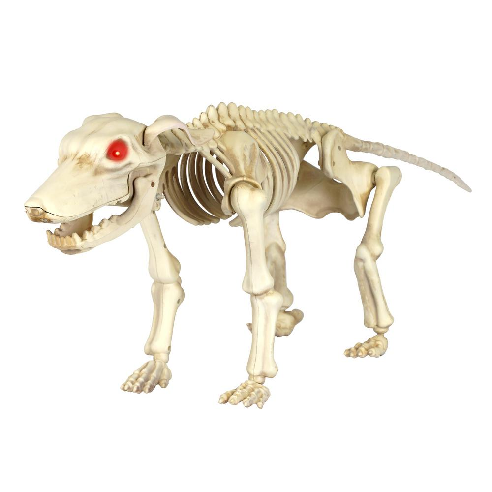 Home Accents Holiday 11 In Animated Skeleton Dog With Led