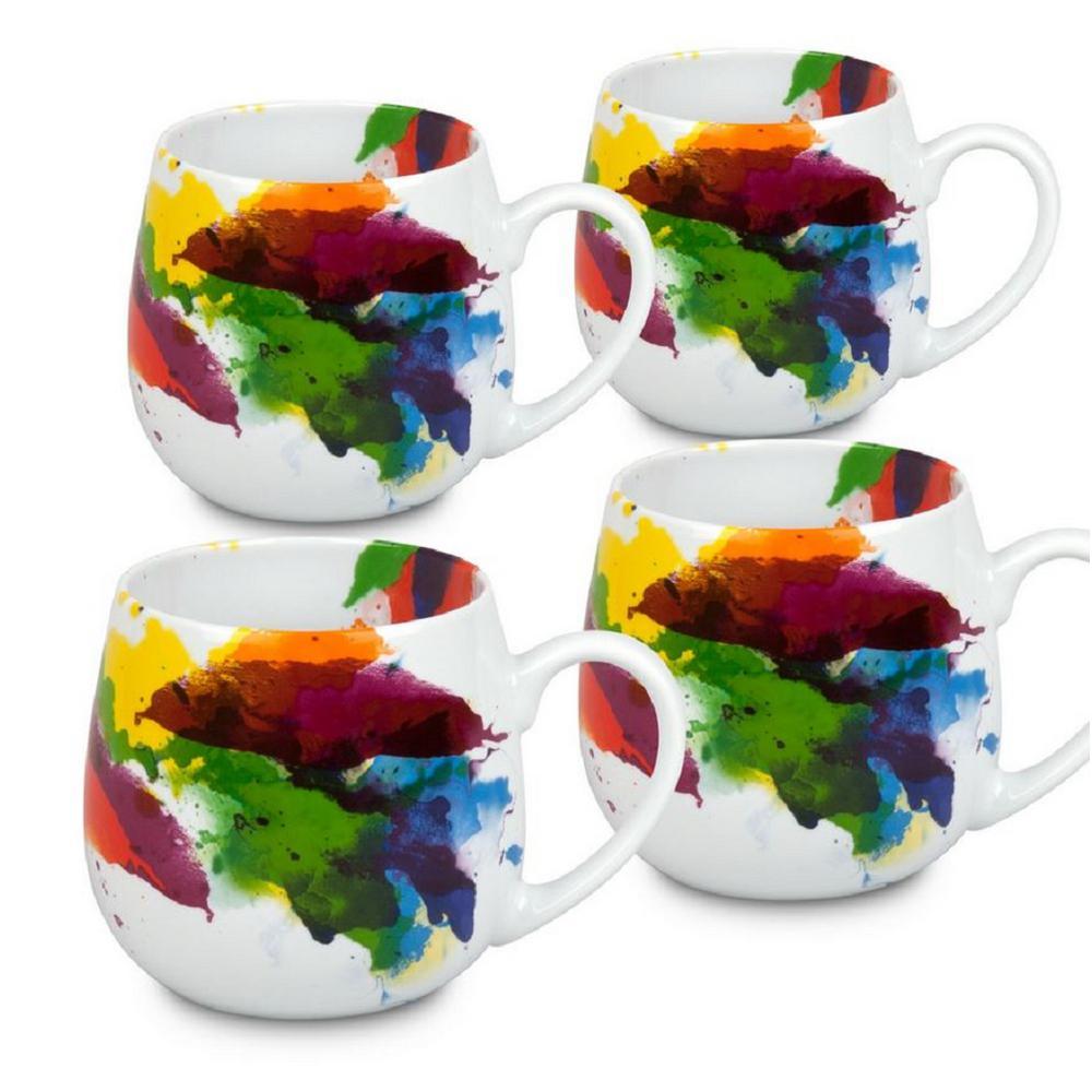 Konitz 4-Piece on Color Flow Porcelain Snuggle Mug Set