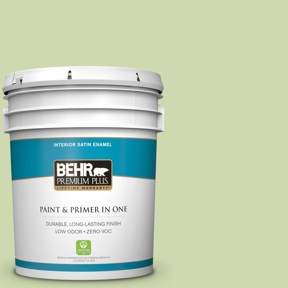 Low Voc Interior Paint: BEHR Premium Plus 5 Gal. #P370-3 Chameleon Skin Satin