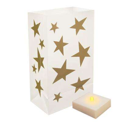 Stars Battery Operated Luminaria Kit with Timer (6-Count)