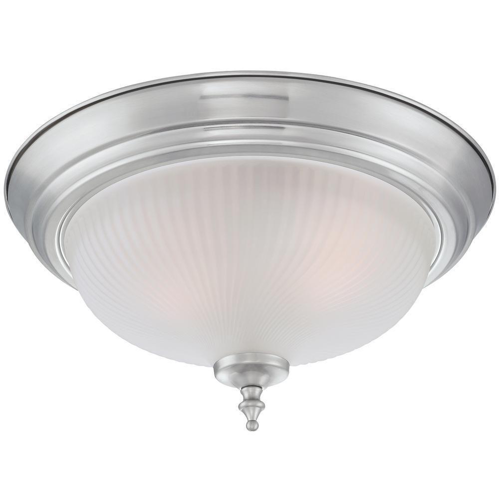 2 Light Ceiling Fixture: Westinghouse 2-Light Ceiling Fixture Polished Brass