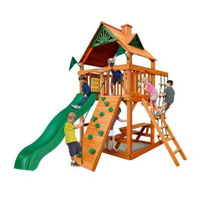 Chateau Tower Cedar Playset with Natural Cedar Posts