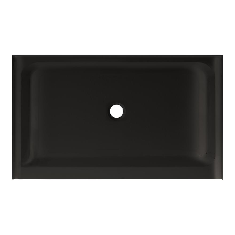 Swiss Madison Voltaire 48 in. x 32 in. Acrylic Black, Single-Threshold, Center Drain, Shower Base