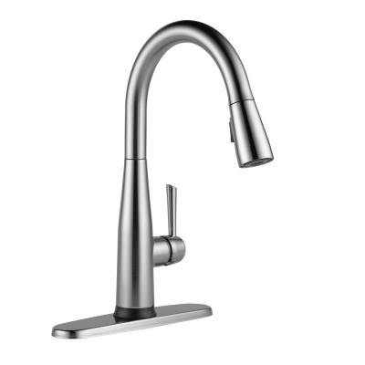 Essa Touch2O Single-Handle Pull-Down Sprayer Kitchen Faucet (Google Assistant, Alexa Compatible) in Arctic Stainless