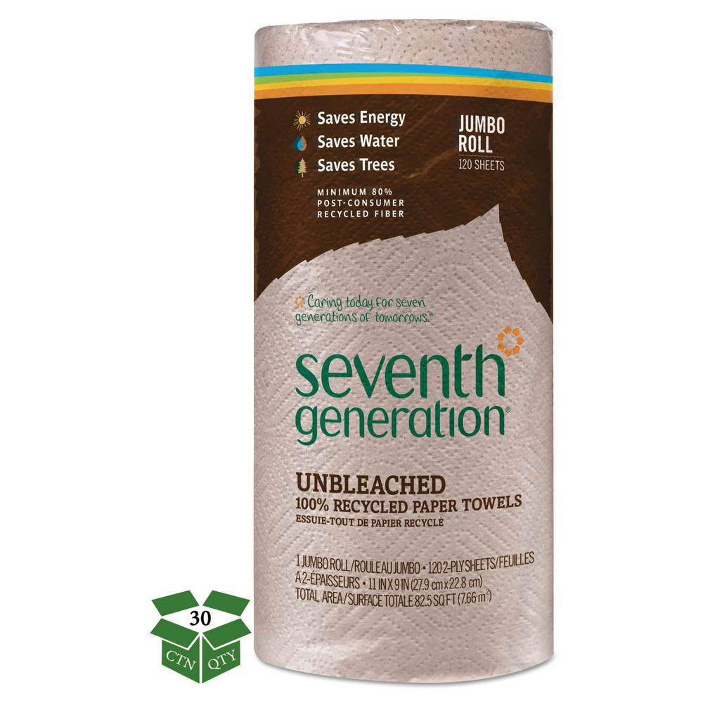Seventh Generation Unbleached 100 Recycled Paper Towels