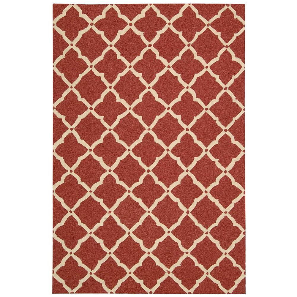 Indoor Outdoor Rugs Home Depot: Nourison Portico Red 8 Ft. X 11 Ft. Indoor/Outdoor Area