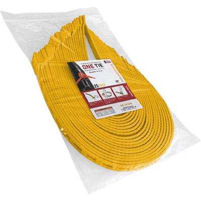 20 in. Cable Ties, Yellow (25-Pack)