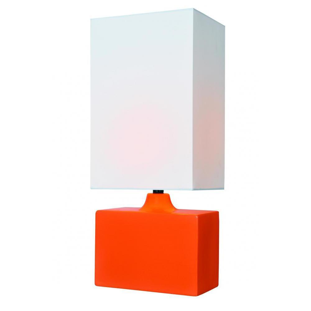 17.5 in. Orange Table Lamp