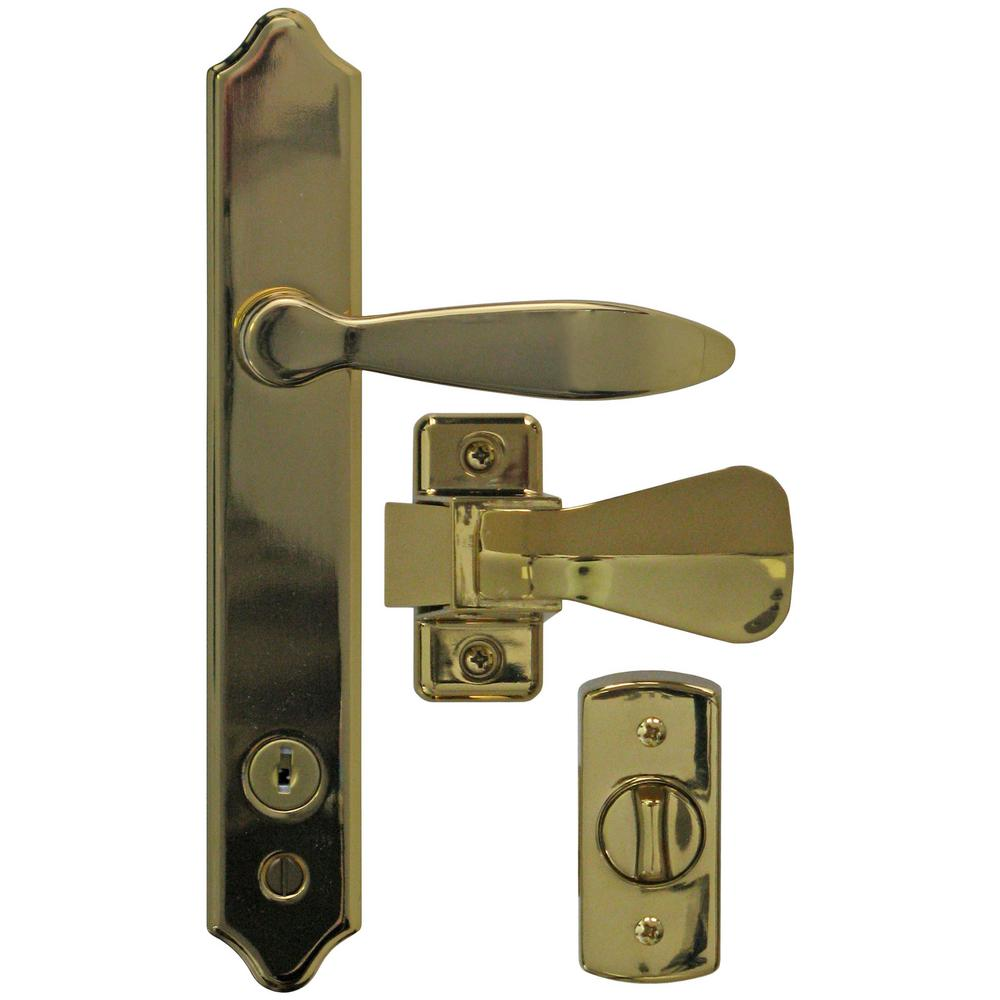 Deluxe E-Coat Storm Door Handle Set with Deadbolt