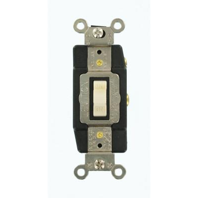 Leviton 20 Amp Industrial Grade Heavy Duty 3 Way Pilot Light Toggle Switch Gray 1223 Plg The Home Depot
