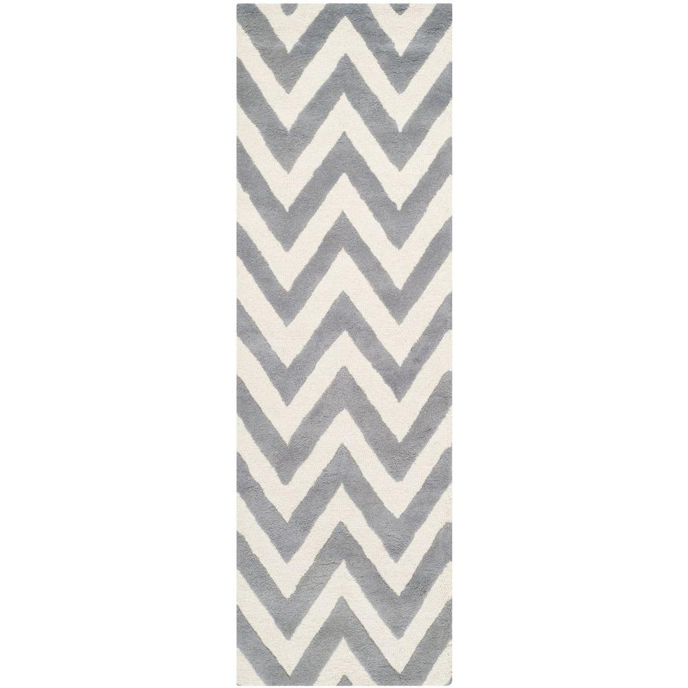 Safavieh Cambridge Silver/Ivory 2 ft. 6 in. x 6 ft. Runner