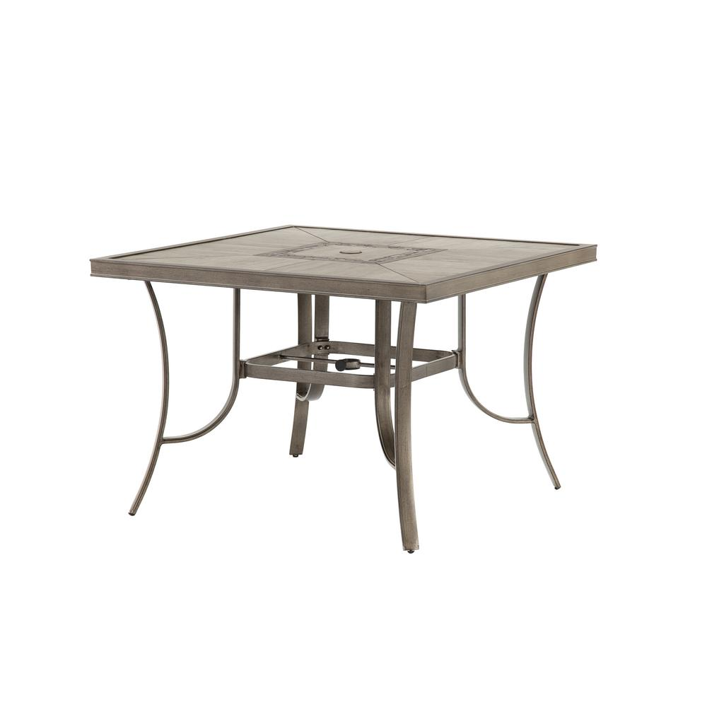 Arlington House Glenbrook Black 42 In Round Mesh Patio Dining Table 8243000 0105000 The Home
