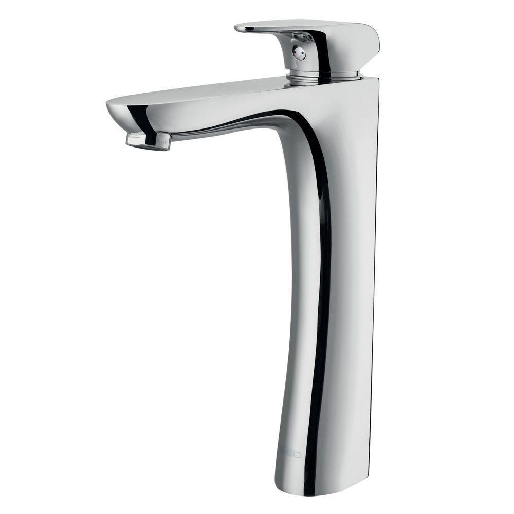 Vigo Erasma Single Hole 1-Handle Low-Arc Bathroom Vessel Faucet in Chrome