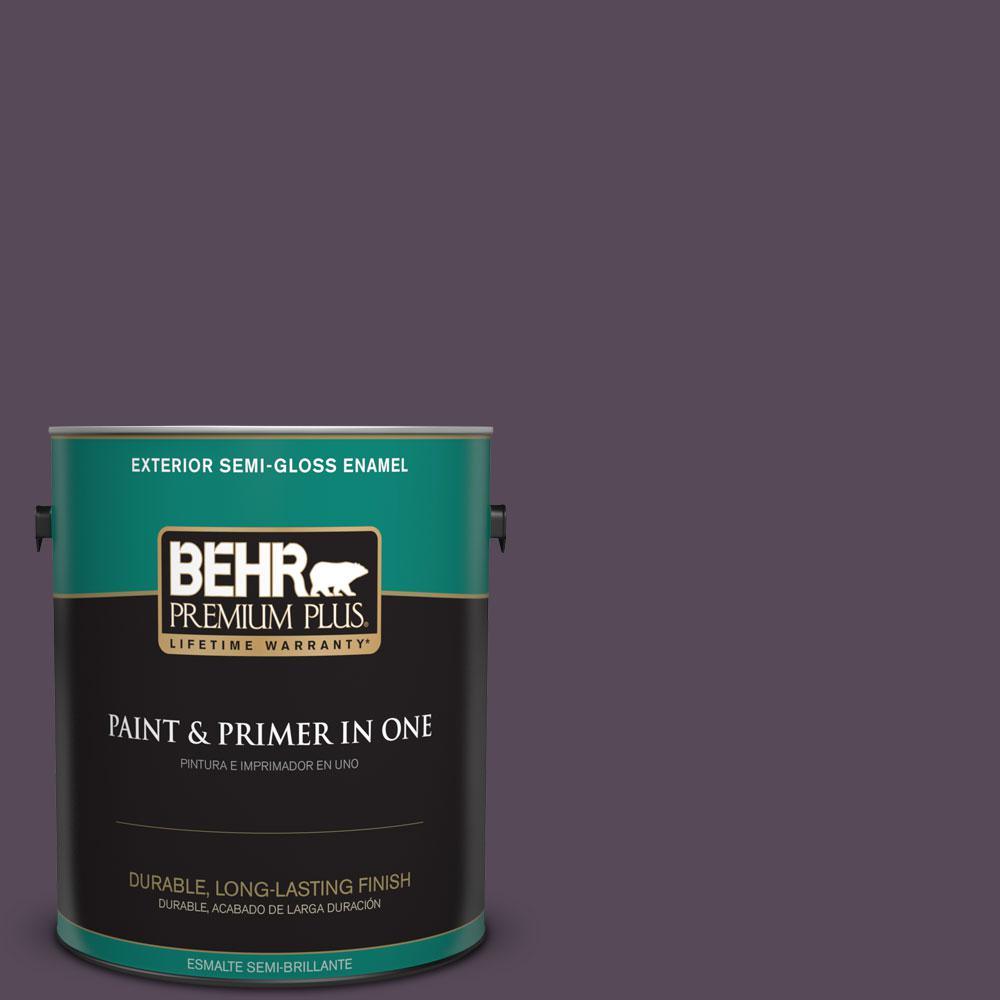 1-gal. #M100-7 Deep Merlot Semi-Gloss Enamel Exterior Paint