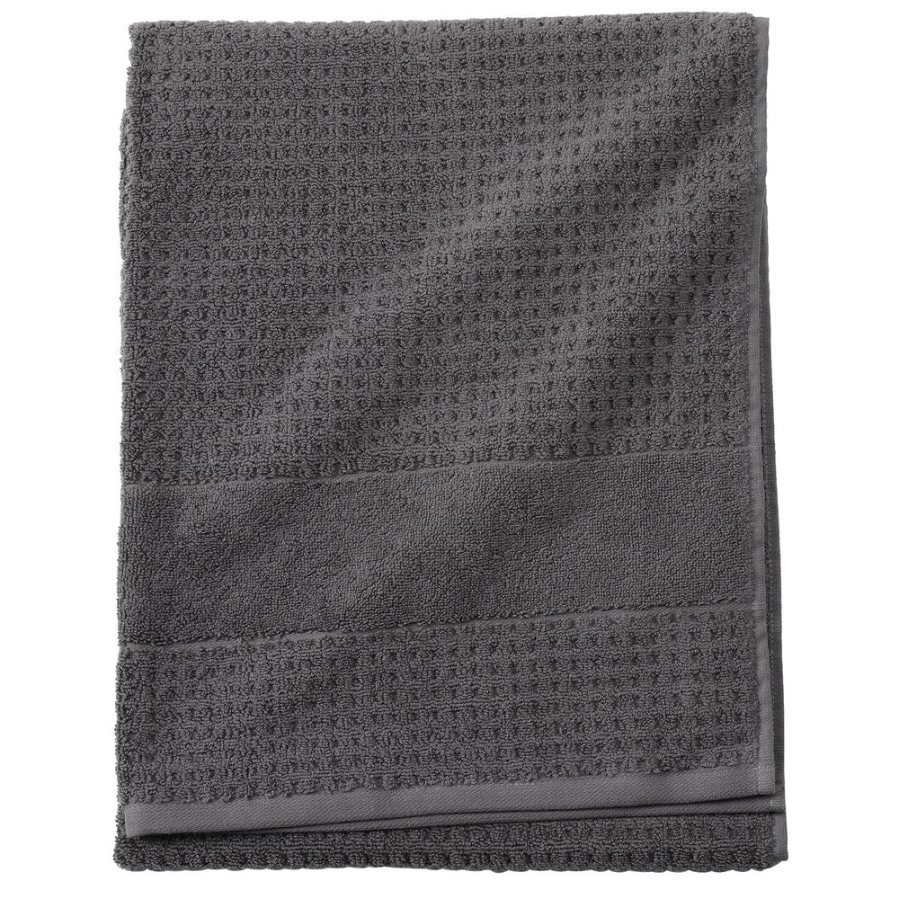 Home Decorators Collection Fairhope 1 Piece Turkish Bath Towel In Charcoal 9855020270 The Home