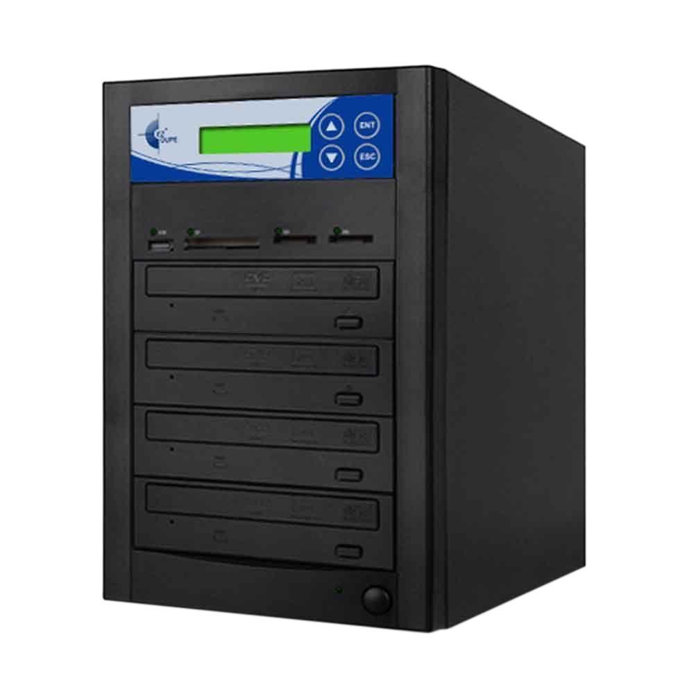 Ezdupe 3 Copy Duplicator for Copies CD, DVD, USB, SD, CF, MS, MMC cards to CD/DVD - Black