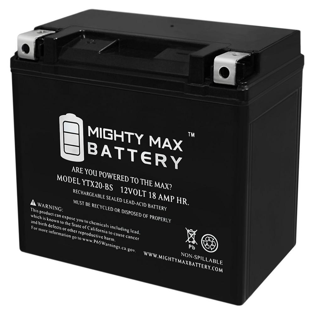12-Volt 18 Ah 270 CCA Rechargeable Sealed Lead Acid (SLA) AGM Powersport Battery