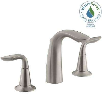 Refinia 8 in. Widespread 2-Handle Bathroom Sink Faucet in Brushed Nickel