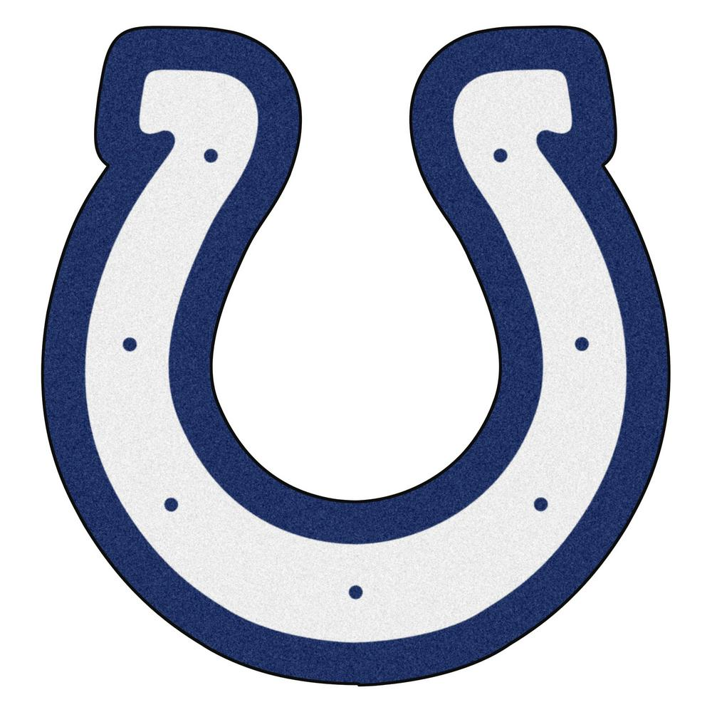 4f07a59d FANMATS NFL - Indianapolis Colts Mascot Mat 34.25 in. x 36 in. Indoor Area  Rug