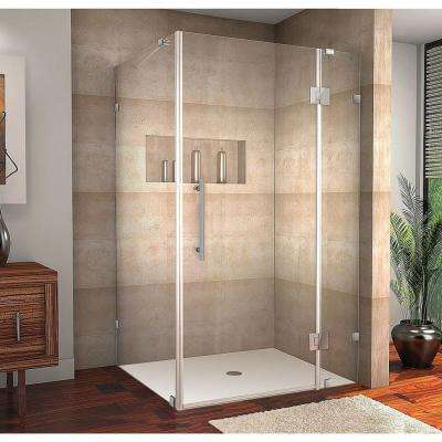 Avalux 42 in. x 34 in. x 72 in. Completely Frameless Shower Enclosure in Chrome