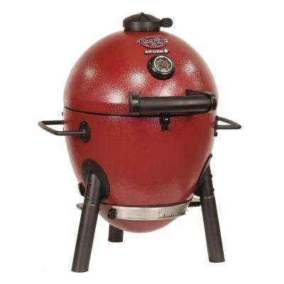 Akorn Kamado Kooker Jr. Charcoal Grill in Red